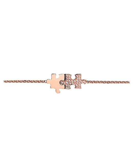 Akillis Puzzle Pink Gold With Diamonds XS Duo Bracelet zv2rRXN