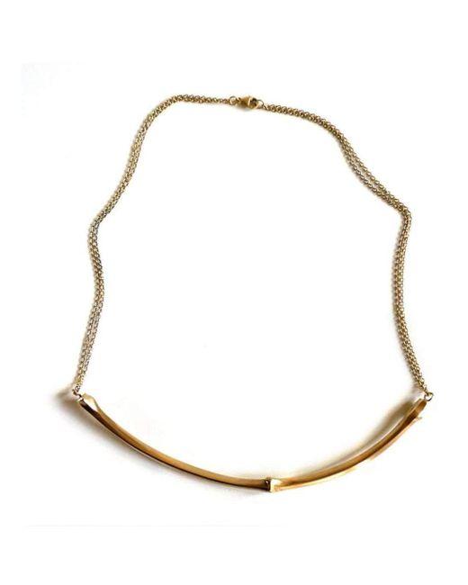 Brandts Jewellery | Metallic Twig Necklace – Gold | Lyst