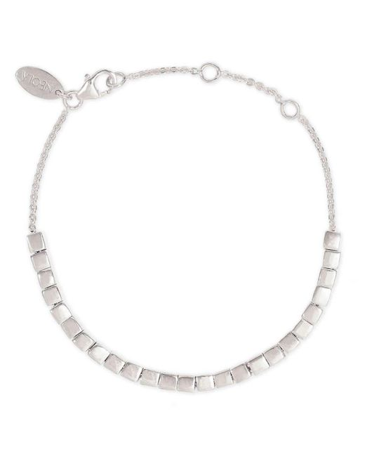 Neola - Metallic Cube Silver Bracelet - Lyst