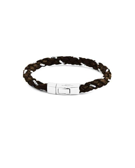 Tateossian | Scoubidou Weave Bracelet In Brown | Lyst