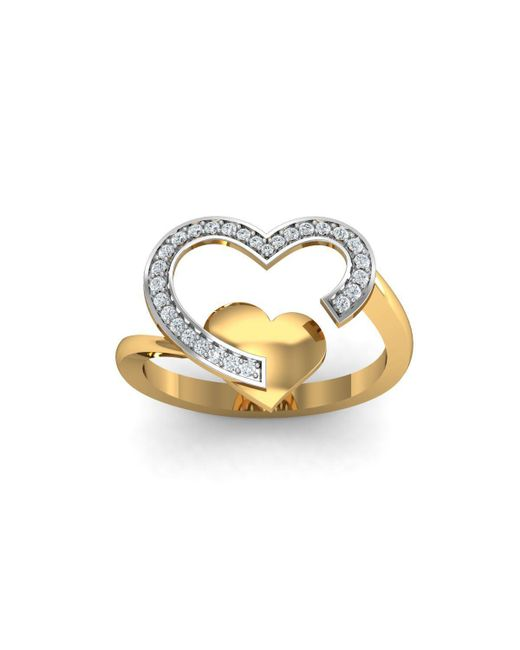 Diamoire Jewels - Metallic 18kt Yellow Gold Pave 0.18ct Diamond Infinity Ring I - Lyst