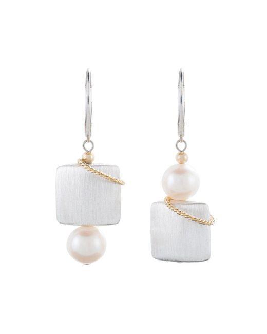 Naomi Jewelry - White Queen Of Arts Earrings - Lyst