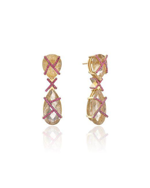 Nicofilimon - Multicolor K Earrings - Lyst