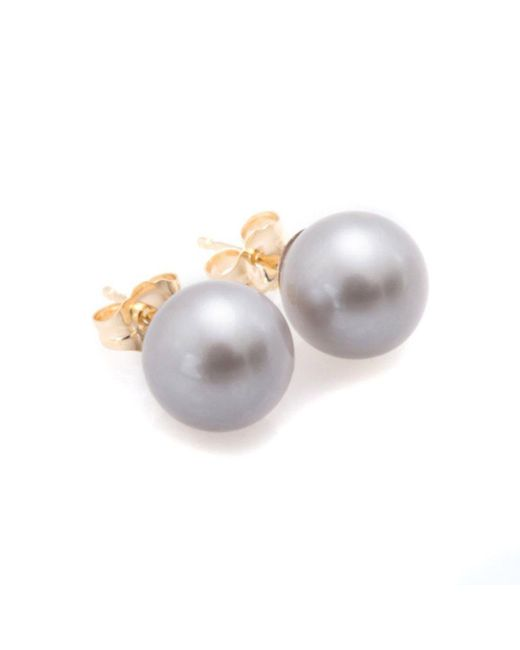 Oh my Christine Jewelry - Gray Grey Pearl Earrings - Lyst