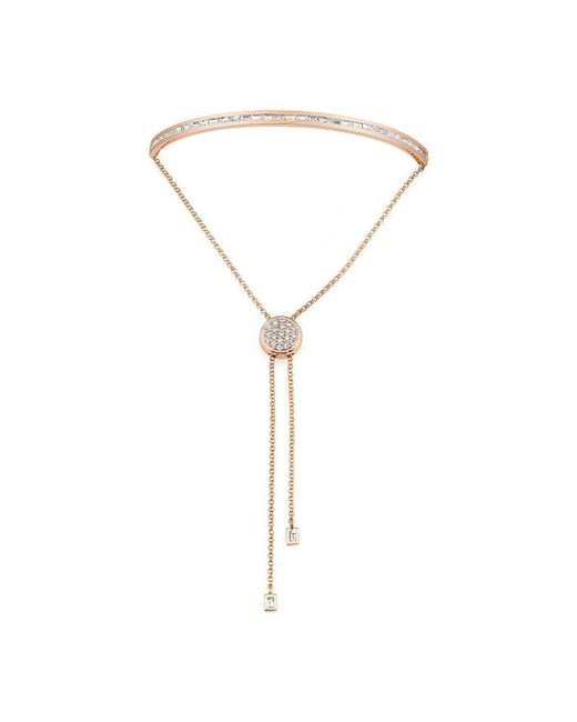Borgioni - Metallic Baguette Toggle Bracelet Rose Gold - Lyst