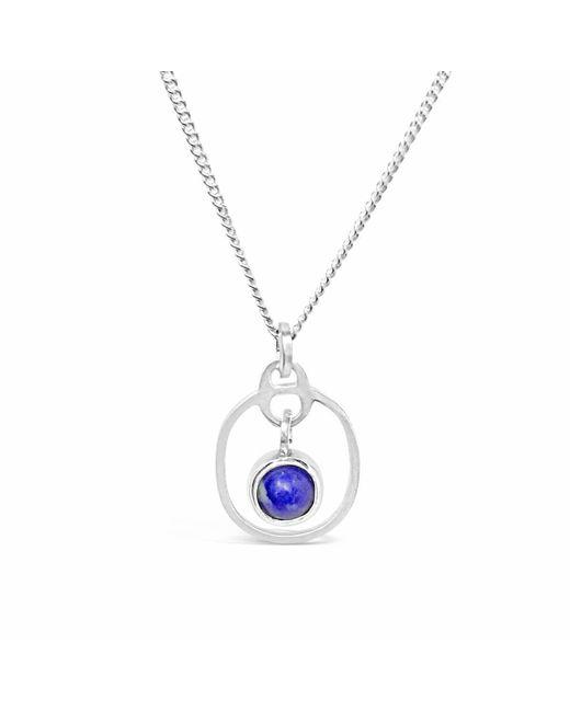 Vicky Davies - Metallic Sterling Silver Lapis Lazuli September Birthstone Pendant Necklace - Lyst
