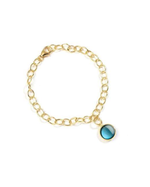 Syna - 18kt London Blue Topaz Charm Bracelet - Lyst