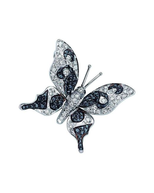 Pinomanna | Blue Natural Chic Butterfly Necklace - White Gold | Lyst