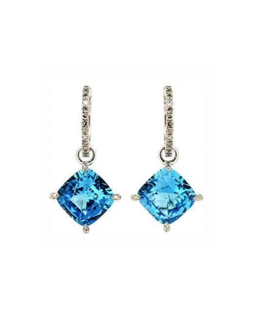 Kura Fine Jewellery - Emilie Blue Topaz Earrings - Lyst
