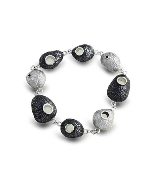 Agneta Bugyte - Multicolor Sterling Silver Black & White Bracelet - Lyst