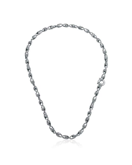 Suciyan | Metallic Dragon Knot Sterling Silver Necklace for Men | Lyst