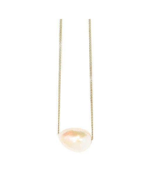 XISSJEWELLERY - Metallic Gold Baroque Pearl Necklace - Lyst