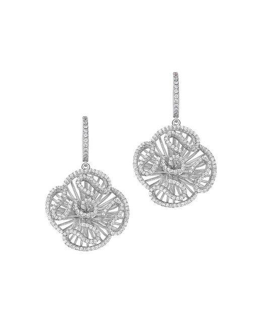 Fei Liu - Metallic Cascade Stud Drop Earrings In Rhodium Plate - Lyst