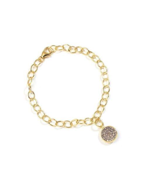 Syna - Metallic 18kt Champagne Diamond Charm Bracelet - Lyst