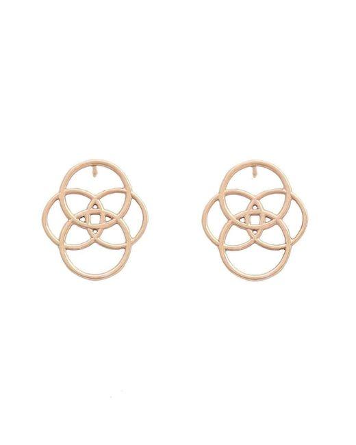 Uma K   Metallic Infinity Circle Earrings - Rose Gold   Lyst