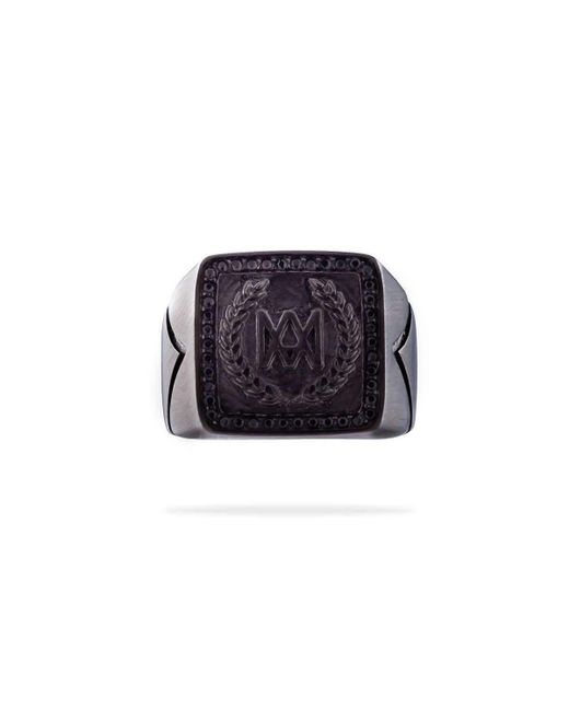 MARCOS DE ANDRADE - King Signet Ring In Titanium Black - Lyst