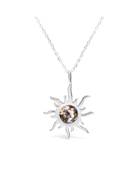 Dune Jewelry | Multicolor Sterling Sunburst Necklace | Lyst
