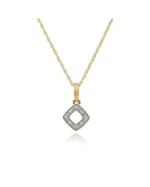 Gemondo Jewellery   Metallic Diamond Rhombus Pendant Necklace   Lyst