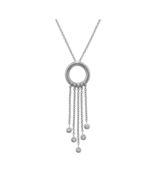 London Road Jewellery - Multicolor Portobello White Gold Diamond Fringe Pendant/necklace - Lyst