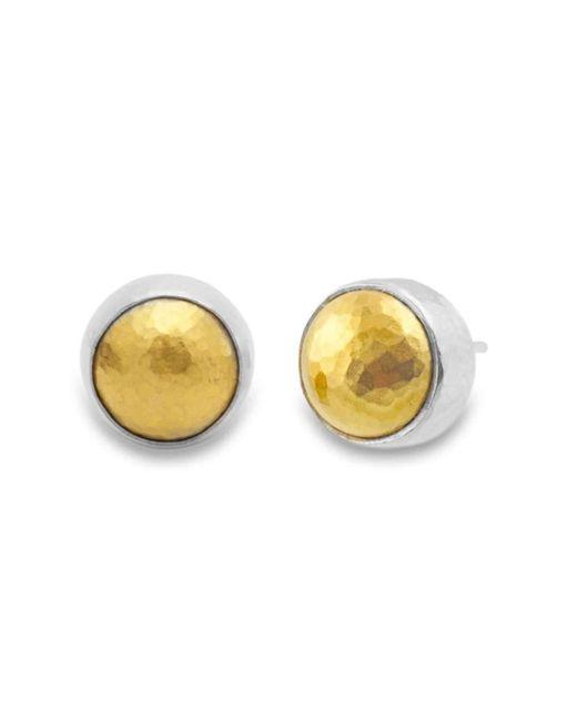 Gurhan | Metallic Amulet Round Stud Earrings | Lyst