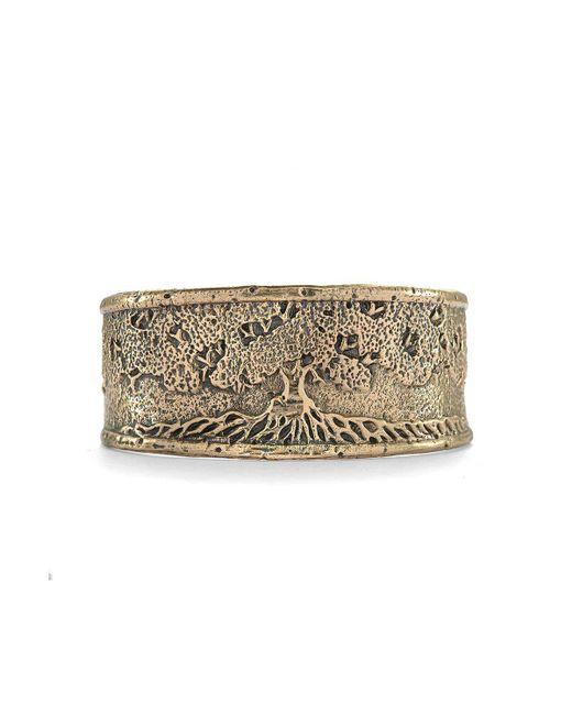 House of Alaia - Metallic Tree Of Life Cuff Bracelet In Bronze - Lyst