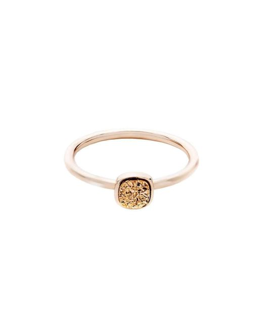 Farm Wife Style - Metallic The Doreen Druzy Ring Yellow Gold Plated - Lyst