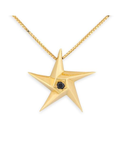 Daou Jewellery - Metallic Day And Night Black Diamond Star Pendant - Lyst