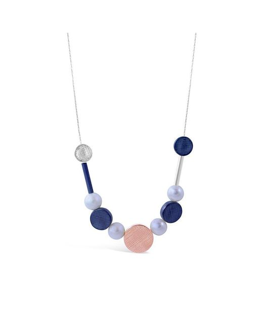 Vicky Davies - Multicolor Rose Gold & Oxidised Silver Dot Pearl Necklace - Lyst
