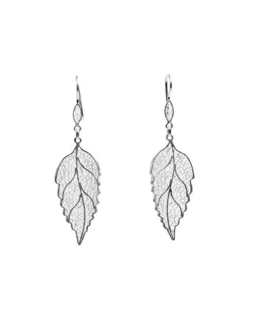 Agora Jewellery - Metallic Filigree Winter Joy Earrings - Lyst