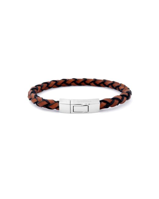 Tateossian | Brown Single Wrap Click Scoubidou Bracelet In Tan for Men | Lyst