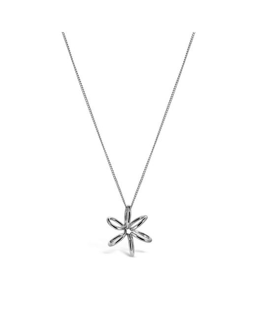 Maree London - Metallic Silver Lily Necklace - Lyst