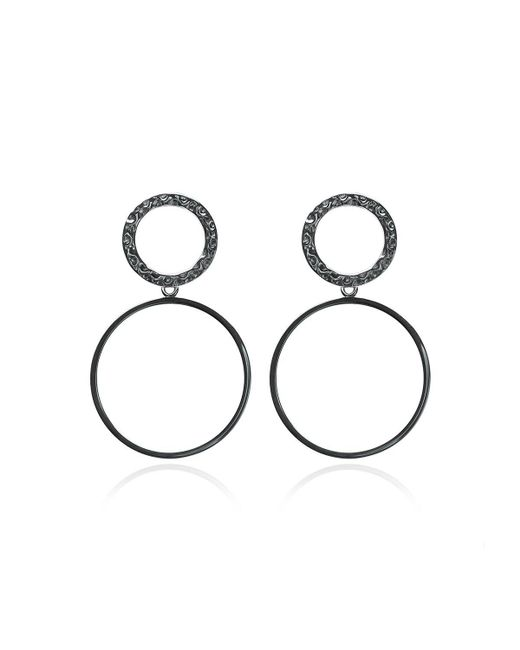 Carao Jewelry - Metallic Sterling Silver Duet Dangle Earrings - Lyst