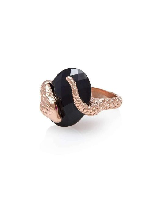 Alexandra Alberta - Gaia Black Onyx Ring - Lyst