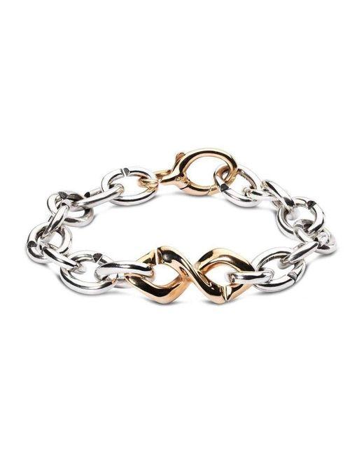 X Jewellery - Metallic Bronze Dna Bracelet - Lyst