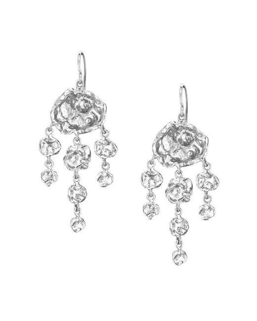 Joseph Lamsin Jewellery - Metallic Jelly Fish Chandelier Sterling Silver Earrings - Lyst