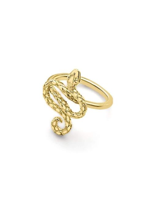 London Road Jewellery - Metallic Kew Serpent Yellow Gold Ring - Lyst