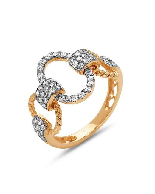 DILAMANI | Metallic Diamond Oval Link Ring | Lyst