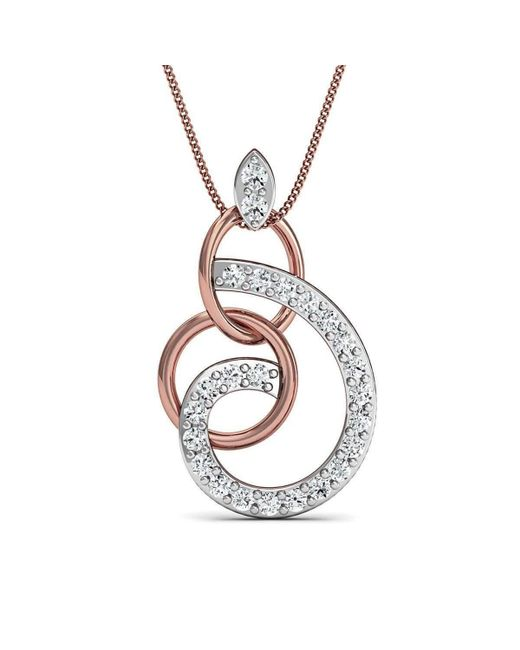 Diamoire Jewels | Metallic Hand-carved 10kt Rose Gold Pave Diamond Pendant | Lyst