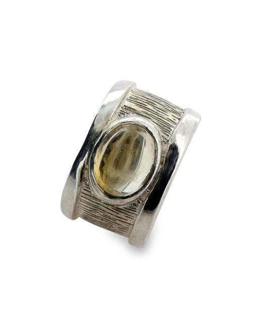 Will Bishop Small Silver & Gold Vermeil Drum Rings - UK G - US 3 3/8 - EU 45 1/4 CFL0FR