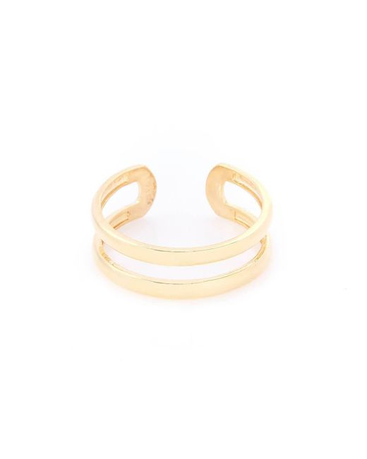 VOA Fine Jewellery - Metallic Yellow Gold Plated Double Cuff Ring - Lyst