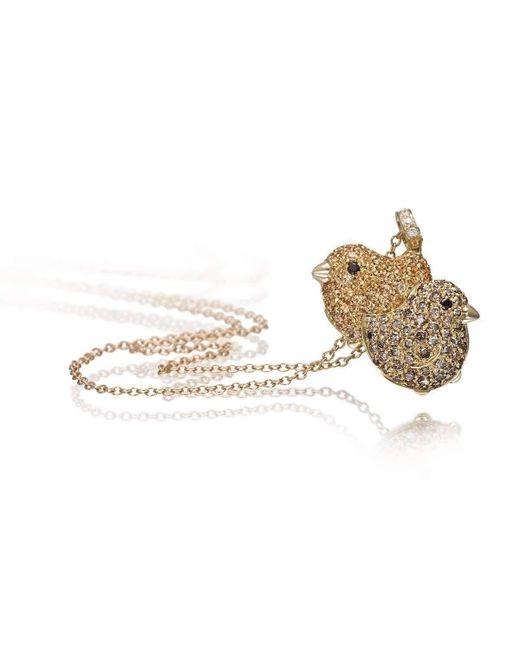 Pinomanna - Metallic Gold & Diamond Pet Jewels Collection Chicks Necklace | - Lyst