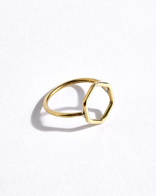 Jigsaw | Metallic Made Hexagon Ring | Lyst