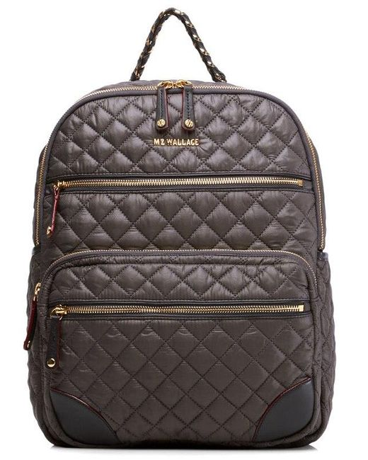 MZ Wallace Gray Quilted Crosby Backpack