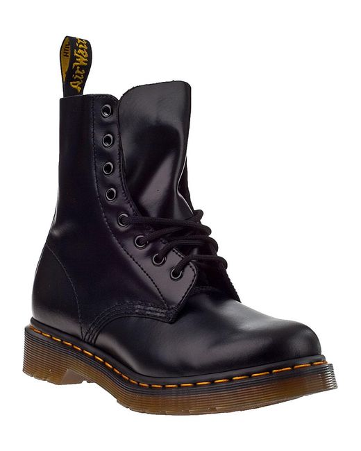 Dr. Martens | Black Pascal Leather Combat Booties | Lyst