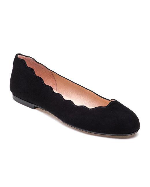 French Sole | Jigsaw Ballet Flat Black Suede | Lyst
