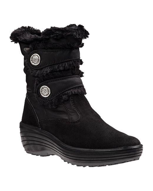 Pajar   Caroline Snow Boot Black Fabric   Lyst