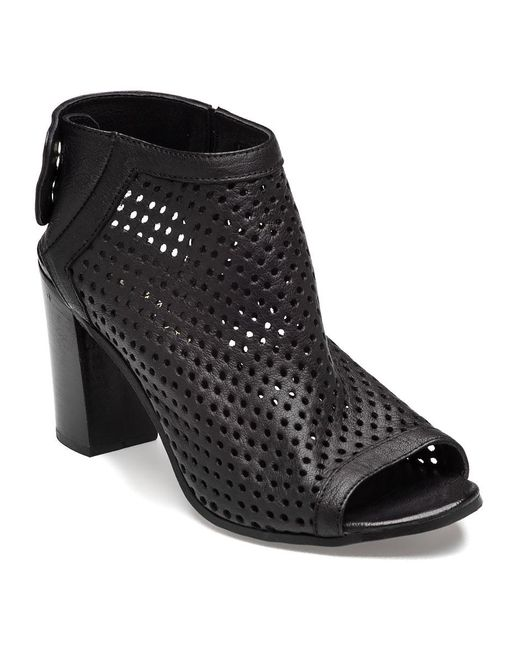 275 Central | Perforated Bootie Black Leather | Lyst