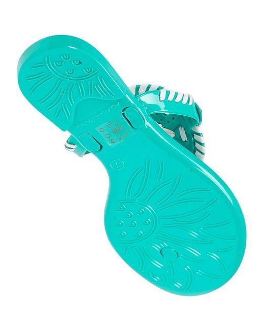 Jack Rogers Georgica Jelly Flip Flop Caribbean Blue White