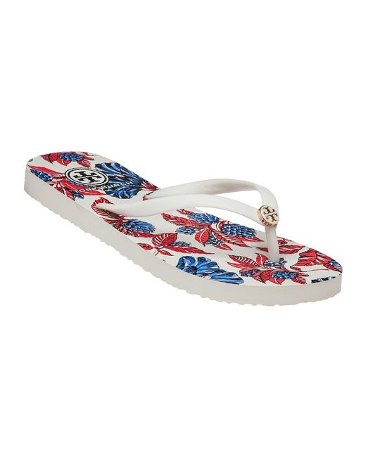 Tory Burch | Red Thin Flip Flop Ivory/wisteria Rubber | Lyst