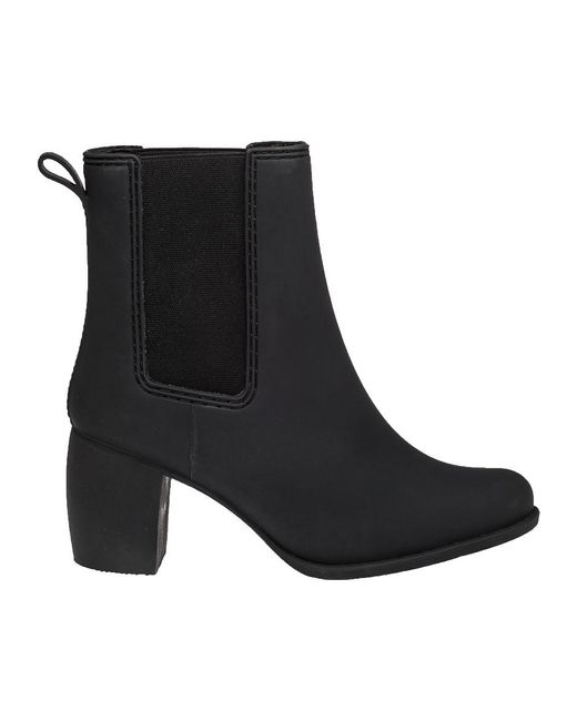 Jeffrey campbell Clima Black Mat Rubber Rain Boot in Black | Lyst